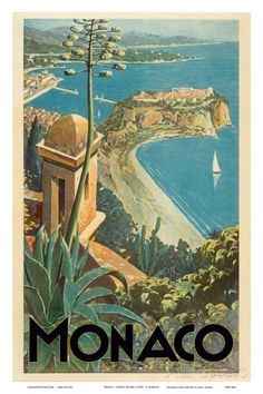 Monaco - Monte Carlo, French Riviera Stampe di E. Clerissi su AllPosters.it
