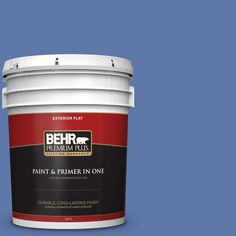BEHR Premium Plus Home Decorators Collection 5-gal. #hdc-FL13-6 Baltic Blue Flat Exterior Paint