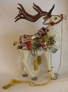 RARE Retired Fitz and Floyd Large Christmas Reindeer Soup Tureen ...