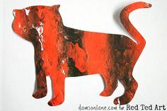 Tiger Craft for preschoolers - bubble wrap printing fun from damsonlane.com on Red Ted Art