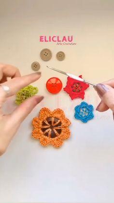 Free Crochet Flower Patterns, Crochet Flower Tutorial, Form Crochet, Crochet Instructions, Bead Crochet, Crochet Motif, Crochet Dolls, Crochet Stitches, Crochet Leaves
