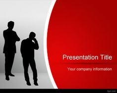 Red Business PowerPoint Template is a free red business template with business man illustration on top of the master slide and red background color