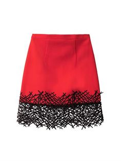 CHRISTOPHER KANE Crackle Hem Crepe Mini Skirt Red $850 FREE WORLD DELIVERY * FREE GIFT WRAPPING * FREE RETURNS * 100% QUALITY ASSURANCE GUARANTEED..FOLLOW US ON POLYVORE! WE HAVE JUST BEEN HONORED WITH THE OFFICIAL BLACK SEAL ALONG WITH GUCCI & OTHER GREAT COMPANIES! SAVE $100.00 ON THIS SKIRT UNTIL DEC 21st!