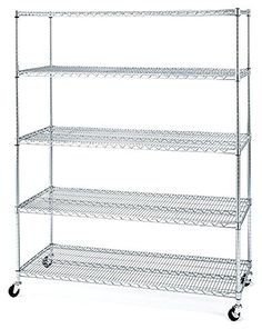 Seville Classics 5-Shelf Wire Shelving Rack with Wheels, 24 x 60 x 72″ – Chrome    http://industrialsupply.mobi/shop/seville-classics-5-shelf-wire-shelving-rack-with-wheels-24-x-60-x-72-chrome/