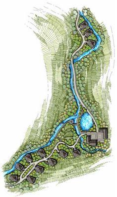 Best Ideas For Landscape Masterplan Sketch Site Plans Creative Landscape, Modern Landscape Design, Landscape Architecture Design, Landscape Plans, Architecture Plan, Urban Landscape, Drawing Architecture, Landscape Drawings, Cool Landscapes