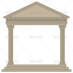 Roman/Greek Temple  #GraphicRiver         Roman/Greek Temple with Corinthian columns, high detailed