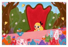Heres my latest commissioned piece and tribute to Mary Blair and Alice in Wonderland. Had so much fun working on this!