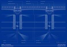 Roof System Section. Pavilion by Renzo Piano in the Kimbell Art Museum. Courtesy…