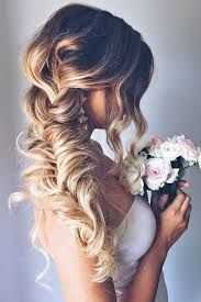 Image result for over the shoulder wedding hairstyles