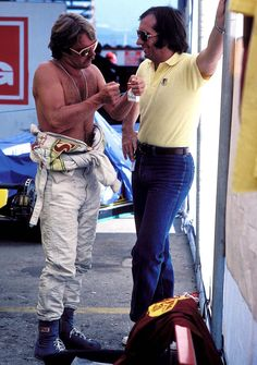 Emerson e Keke Rosberg - Equipe Fittipaldi