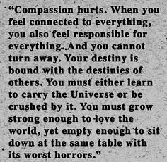 This is for all my fellow empathetic people.