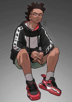 Fantasy Character Design, Character Design Inspiration, Character Concept, Character Art, Black Cartoon Characters, Manga Characters, Dope Cartoon Art, Black Art Pictures, Black Artwork