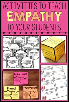 These empathy activities for kids will help your elementary students understand the feelings and needs of others and respond with empathy. These activities include games, task cards, worksheets, puzzles, etc. to help students learn and practice empathy. These are great for social skills lessons or character education lessons. School counselors can use these in small group or classroom guidance lessons.