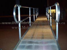 Rampe fauteuil roulant en aluminium (514) 949-2147 & 1-888-414-6721