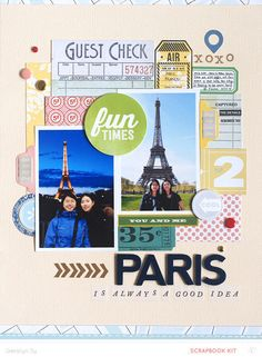 Paris by qingmei - Scrapbooking Kits, Paper & Supplies, Ideas & More at StudioCalico.com!