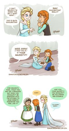 Frozen: Caught with sweets by rinacat