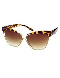 you know it.  ASOS Cat Eye Glasses with Contrast Highbrow, $21.81