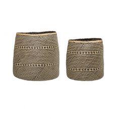 Natural and black woven baskets set of versatile storage baskets ideal for contemporary living spaces. Scandi Living, Pots, Big Basket, Garden Basket, Lighting Sale, Large Baskets, Beautiful Gifts, Gift Store, Storage Baskets