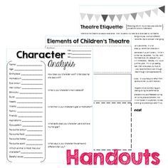 Elements of Drama Worksheets and Powerpoint by glensloth ...