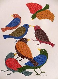 Gond Birds Painting