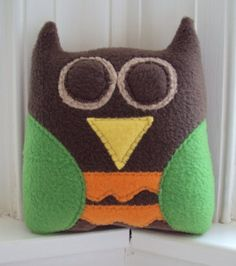 Woodland Owl Tooth Pillow - Tooth Fairy Pillow for Him - Plush Owl - Pocket Pillow. $24.00, via Etsy.