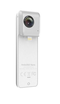 Insta360 Nano real time stitching VR video camera - Dual 4K cameras with 210-degree fisheye lenses is perfect video camera for iPhone. It allows the user to see the world from every angle. Each image sensor features a resolution of 3040x1520 30fps max. The Insta360 Nano combines the images from both cameras in real-time so that user can get a sense of the final effect while recording. This compact and sleek design make iPhone users very convenient to carry them and use it anywhere.