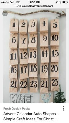 Advent calendars are a fun, popular way for kids and adults to count down the days until Christmas. Kids love the surprises hidden behind each day. Take a look at these Christmas advent calendars. Christmas Countdown, Christmas Calendar, Days Until Christmas, All Things Christmas, Christmas Holidays, Xmas, Christmas Tables, Nordic Christmas, Modern Christmas