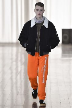 See the complete Gosha Rubchinskiy Fall 2017 Menswear collection.