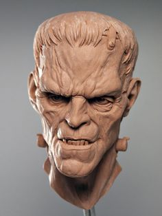 Clay Bust of Frankenstein's Monster.     http://cgpin.com/index.php/board/pins/187/16828