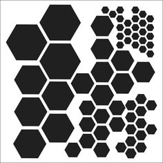 Multi-size hexagon stencil/template for painting, misting, chalk, etc. {The Crafter's Workshop - 12 x 12 Doodling Templates - Hexagons} Osiris Tattoo, Hexagon Tattoo, Geometric Stencil, Geometric Pattern Design, Hexagon Pattern, Geometric Designs, Geometric Shapes, Muster Tattoos, Stippling