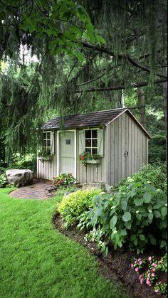Cottage Patio, Cottage Garden Sheds, Farmhouse Garden, Cottage Gardens, Landscape Design, Garden Design, Landscape Architecture, Nice Landscape, Fence Design
