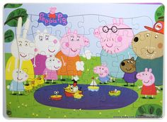 New PEPPA PIG Puzzles 28cm x 21cm 40pieces Peppa at the Pond Great fun for kids
