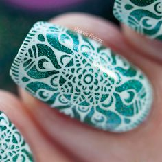 Cupcake Polish Color4Nails Exclusive Enchanted (stamping nail art)