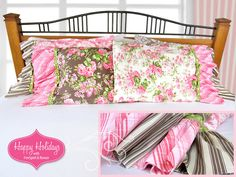 Happy Holidays with Free Spirit & Rowan: Pillowcases with Deep Ruffled Ends | Sew4Home