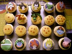 Dragon ball cupcakes