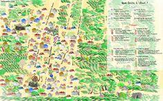 Carte de Ubud, illustrated by Sophie Kukukita - Que faire à Ubud? Mes endroits preferes et activités de la capitale culturelle de Bali.