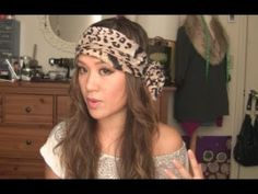 How to tie Boho head scarf tutorial