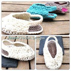 Annoo's Crochet World: Darling Baby Fall Slip-ons