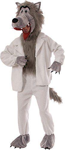 Adult Big Head Wolf Jumpsuit Mascot Costume Book Week Unisex Fancy Dress Outfit