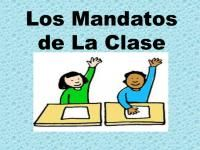 Spanish Los Mandatos de la Clase/Class Room Commands