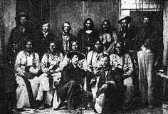 Black Kettle (seated center) and other Cheyenne chiefs - The Sand Creek Massacre, occurring on November 29, 1864, was one of the most infamous incidents of the Indian Wars. --- This is a very good account of what happened, I think.