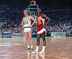 This rivalry will literally never die between Larry Bird and Dominique Wilkins.    (Getty)