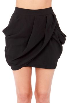 Lovely Layers Black Tulip Skirt at LuLus.com! #lulus #holidaywear
