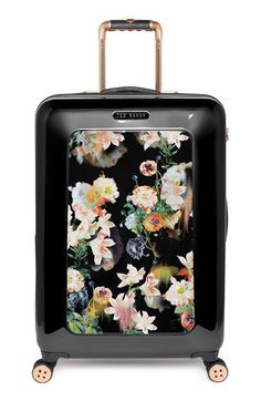 Elastic Travel Luggage Cover Exotic Plant Blossom Birds Butterfly Suitcase Protector for 18-20 Inch Luggage