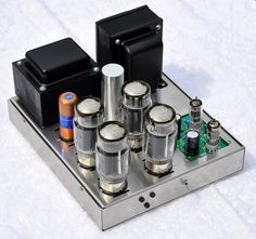 125 watt tube amplifier - The Paper Horn by Inlow Sound Valve Amplifier, Audio Amplifier, Audiophile, Speakers, Diy Electronics, Electronics Projects, High End Audio, Vacuum Tube, Brushed Stainless Steel