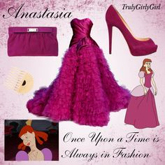 Disney Style: Anastasia, created by trulygirlygirl Disney Character Outfits, Disney Princess Outfits, Disney Themed Outfits, Character Inspired Outfits, Disney Dresses, Disney Clothes, Disney Mode, Disney Bound, Disney Pixar