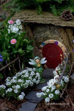 There are many ways to build fairy houses. This craft is really fun to do with children as their imaginations are amazing. I hope this page will inspire you to create your own fairy houses, enjoy! #fairygarden