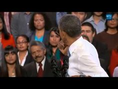Obama Tries To Win Over Heckler On Immigration Reform and he does... he listens and doesn't have him thrown out.