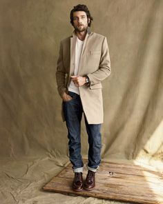 A grown up smarter denim look - work your jeans with hiking boots, a trend that will definitely return for AW12.