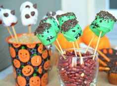 Here are some ideas for spooky Halloween desserts you and the kids can make together.